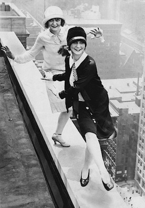 Two Flappers Dancing atop Chicago Hotel