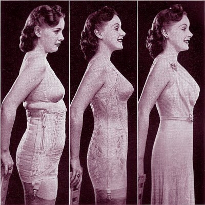 Before and after a spencer corset 1941