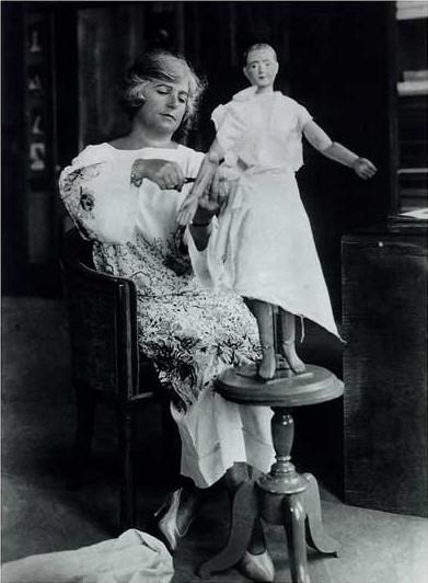 Madeleine Vionnet in her studio